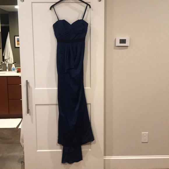 BCBGMaxAzria Dresses & Skirts - BCBG Max Azria strapless gown with train